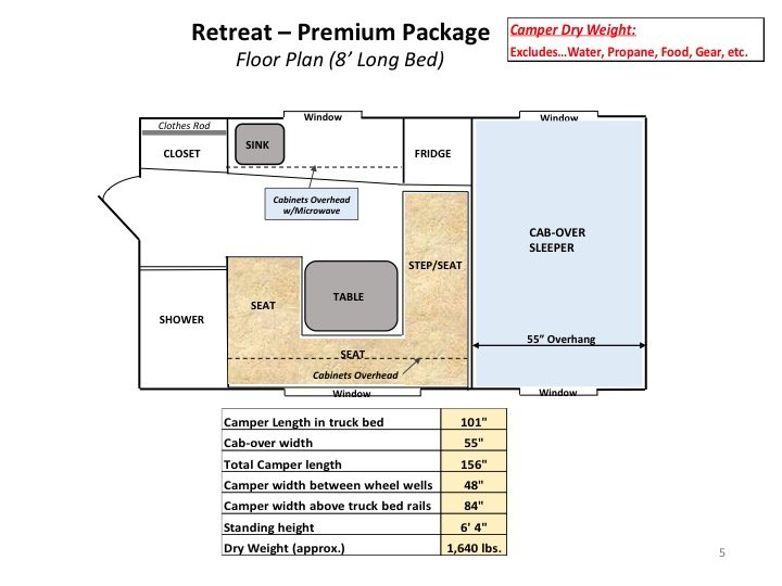 Retreat 8' long bed